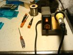 My soldering station and tools.